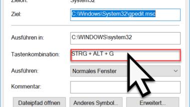 Windows Programme schnell per Tastenkombination starten (STRG + ALT Hotkey)