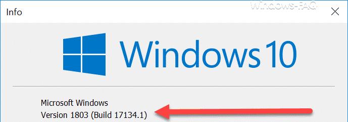 Windows 10 Version 1803 Build 17134.1