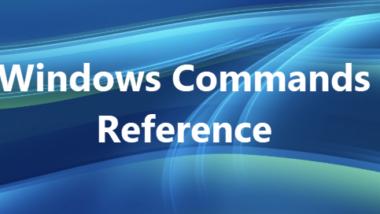 Ausführliche Erklärung aller Windows Kommandos mit Parameter und Beispielen