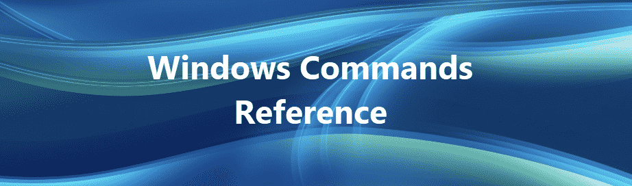 Windows Commands Reference