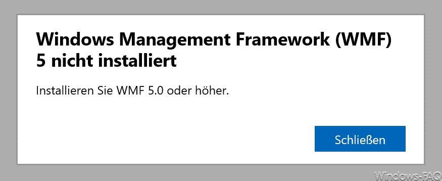 Windows Management Framework (WMF) 5