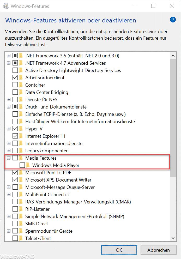 Windows Media Features