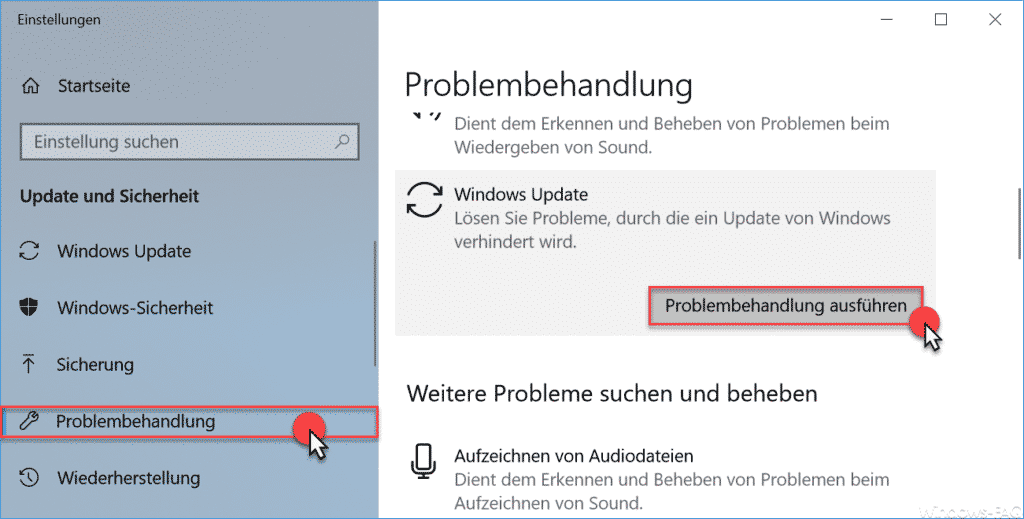 Windows Update Problembehandlung