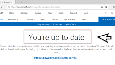 Überprüfen ob Windows 10 auf dem aktuellsten Stand ist