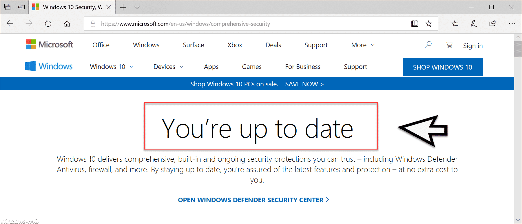 You´re up to date