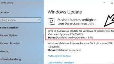 Download Update KB4284835 für Windows 10 Version 1803 Build 17134.112