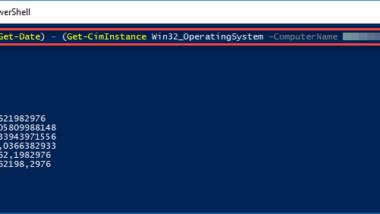 Windows Uptime (Betriebszeit) remote abfragen