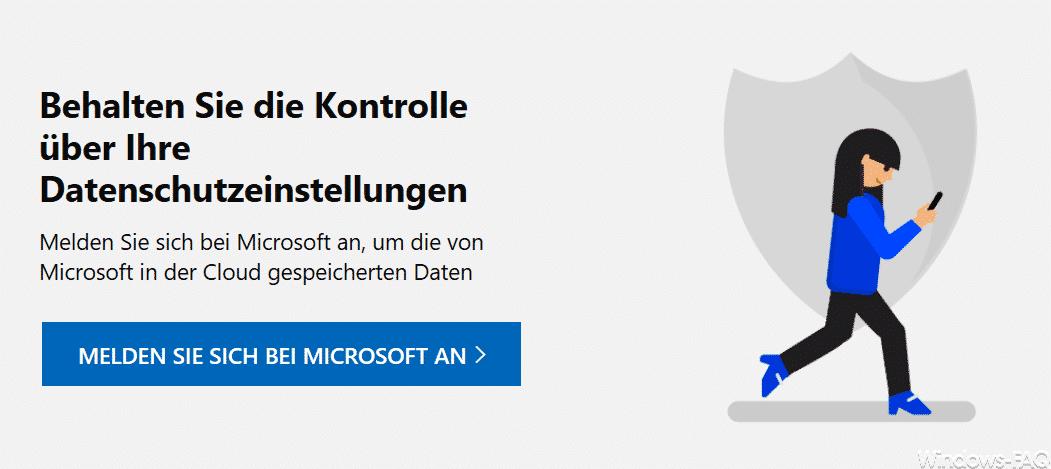 Microsoft Datenschutzeinstellungen