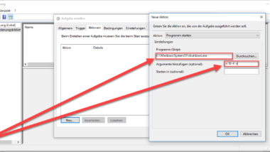 Automatischen Windows Systemneustart per Aufgabenplanung einrichten