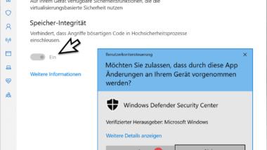 Windows Kernisolierung bzw. Speicher-Integrität aktivieren