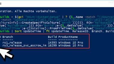 Anzeige welche Windows 10 Feature Updates (Upgrades) bereits installiert wurden