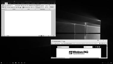 Windows 10 Graustufen- bzw. Schwarz-Weiß Modus ein- oder ausschalten