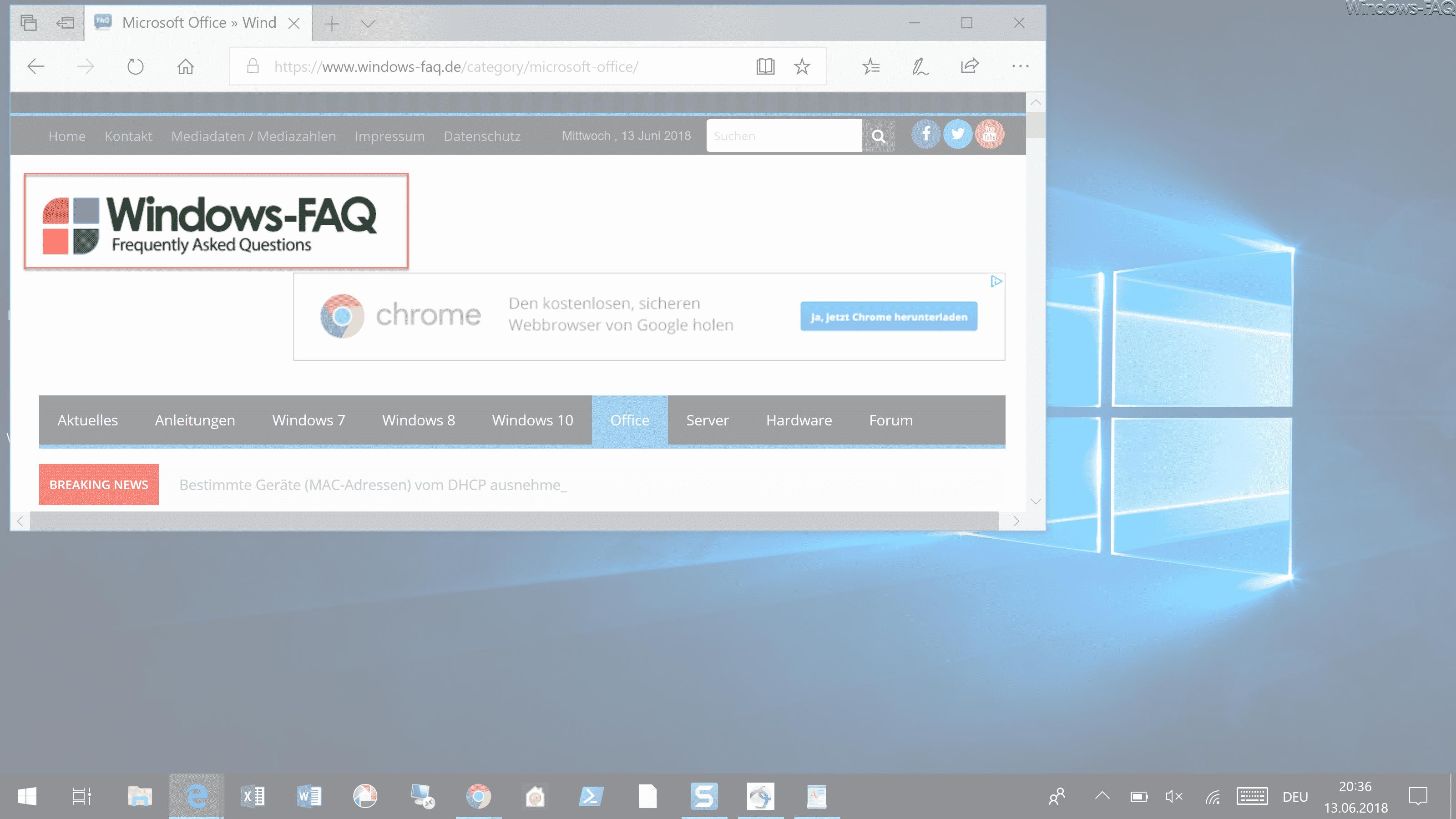 Windows-Taste + Shift + S