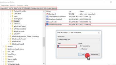 Windows 10 Timeline (Zeitleiste) deaktivieren