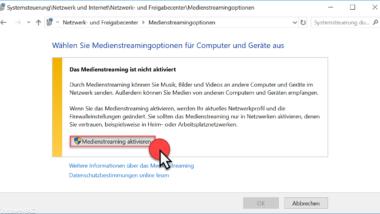 DLNA Server unter Windows 10 einrichten