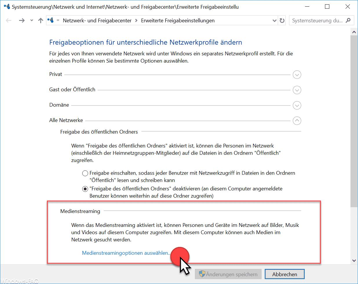 Dlna Server Unter Windows 10 Einrichten Einstellungen Media