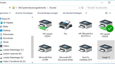 Windows 10 zeigt nicht immer alle Drucker an