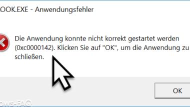 Die Anwendung konnte nicht korrekt gestartet werden 0xc0000142