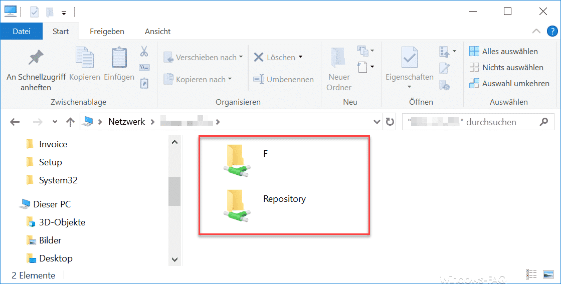 Freigaben im Windows Explorer