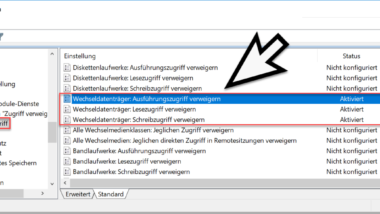 Zugriff auf USB-Sticks bei Windows 10 sperren