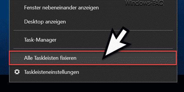 Windows Taskleiste darf nicht fixiert sein