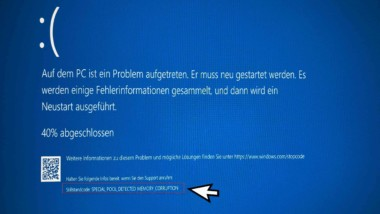 Special Pool Detected Memory Corruption BSOD