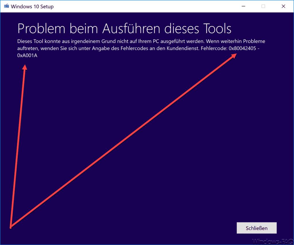 0X80042405 - 0xA001A Fehlercode Media Creation Toolkit