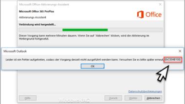 Fehlercode 0xC004B100 bei der Aktivierung von Office 365
