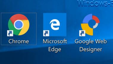 Pfeile in den Desktopsymbolen bei Windows 10 entfernen