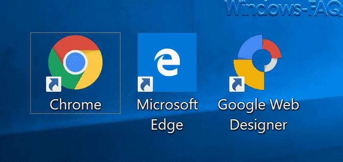Desktopsymbole mit Pfeil