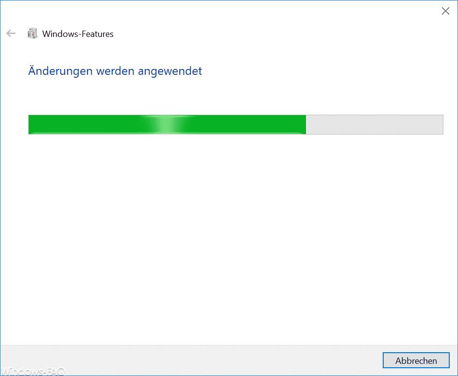 FTP-Änderungen werden angewendet.
