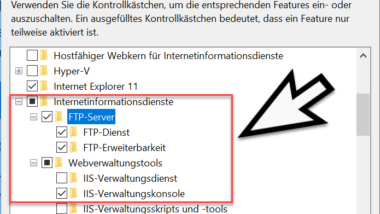 FTP-Server unter Windows 10 installieren