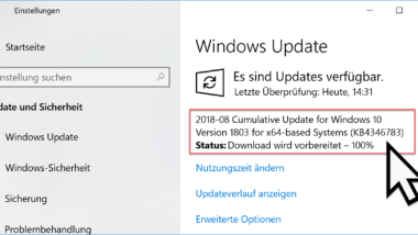KB4346783 Update für Windows 10 1803 Download Build 17134.254