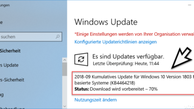 Download KB4464218 für Windows 10 Version 1803 Build 17134.286