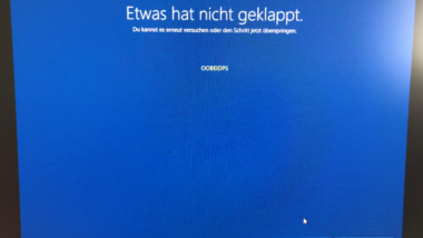 OOBEIDPS Windows Start Fehlermeldung