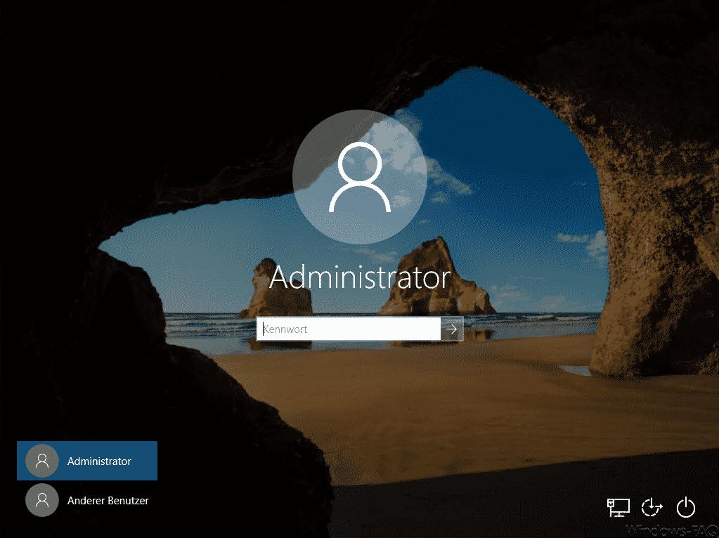Windows 10 Sperrbildschirm mit Hintergrundbild