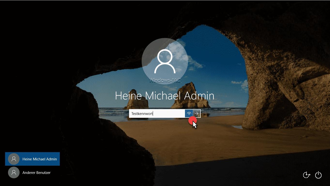 Windows Kennwort im Klartext anzeigen