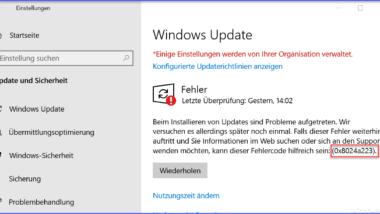0x8024a223 Fehlercode beim Windows Update
