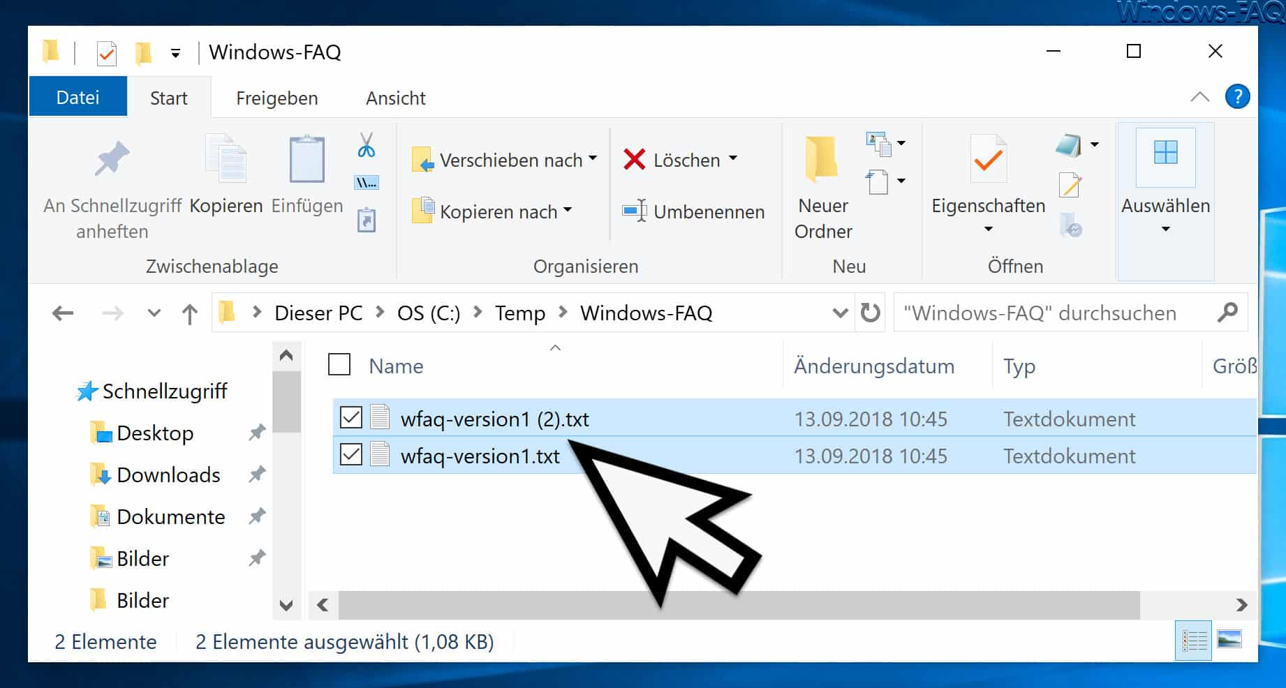 Beide Dateien erhalten beim Kopiervorgang
