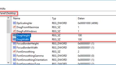 Unfreiwilliges Verschieben von Ordnern oder Dateien verhindern