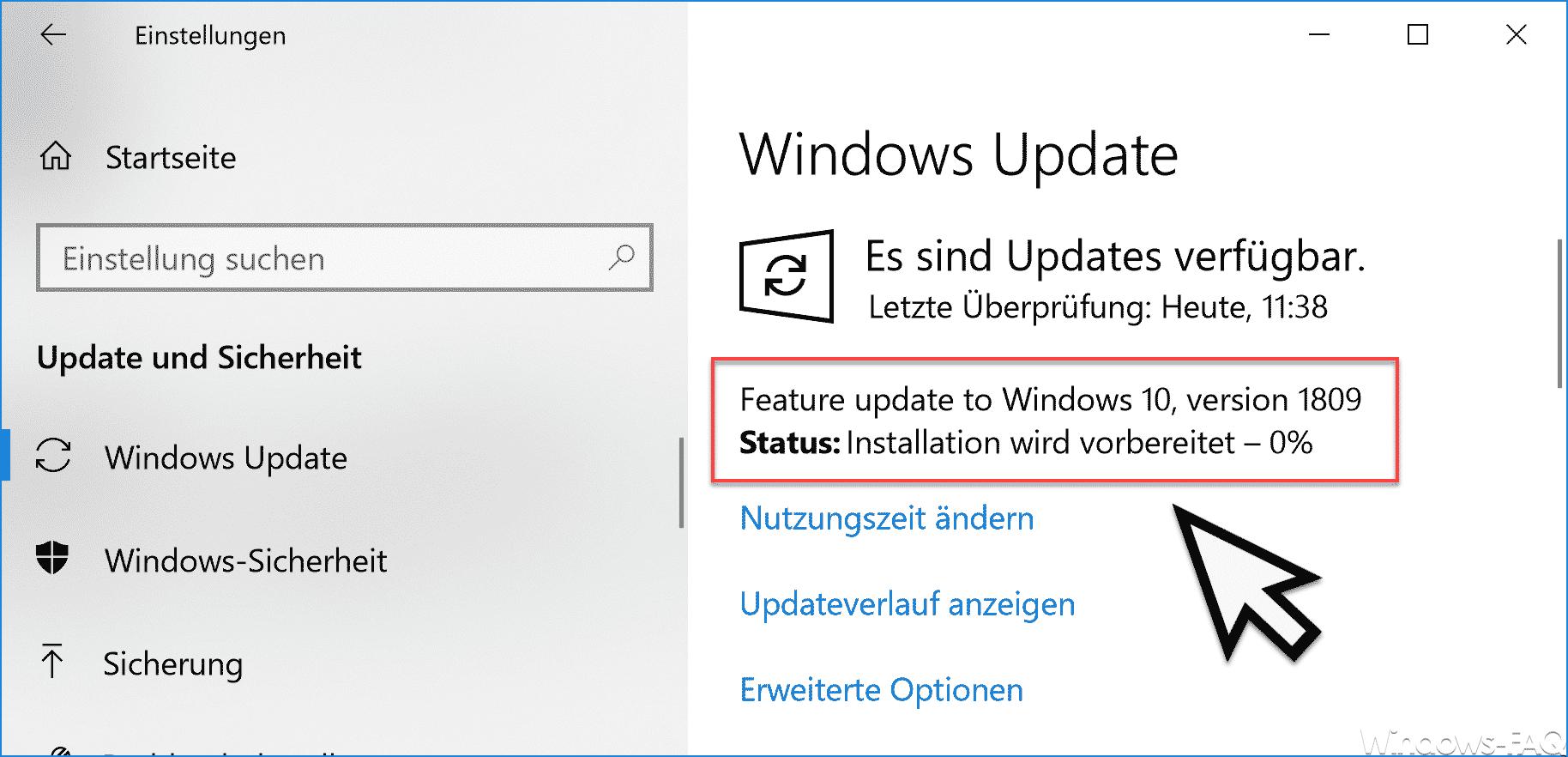 Feature Update Windows 10 Version 1809