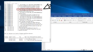 Geöffnete Dateien unter Windows herausfinden