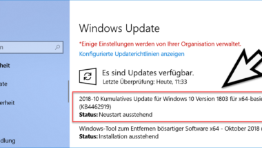 Download Update KB4462919 für Windows 10 Version 1803 Build 17134.345