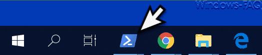 PowerShell an Taskleiste angepinnt