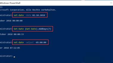 Windows Datum und Uhrzeit per PowerShell ändern