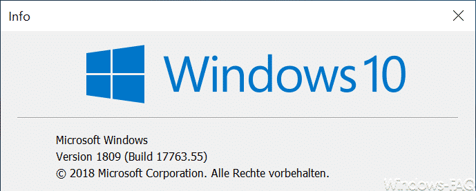 Version 1809 Build 17763.55