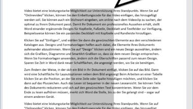 Vertikales Markieren im Microsoft Word