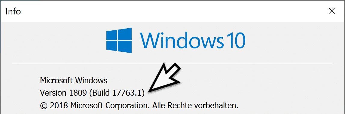 Windows 10 Version 1809 Build 17763.1