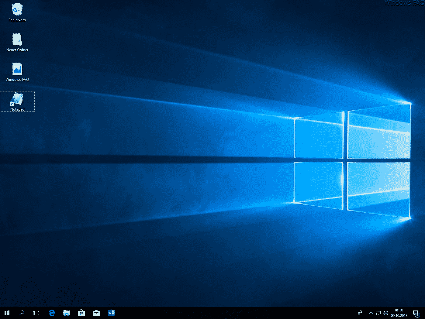 Windows Desktop mit Desktopsymbolen