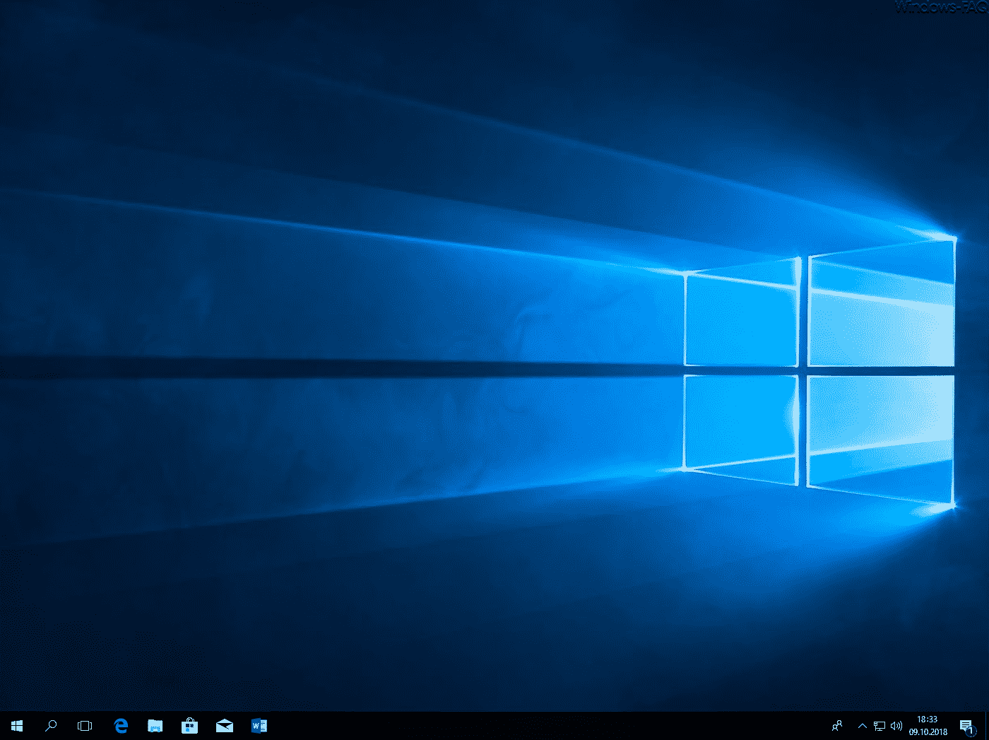 Windows Desktop ohne Desktopsymbole
